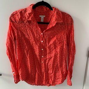 J crew button down blouse